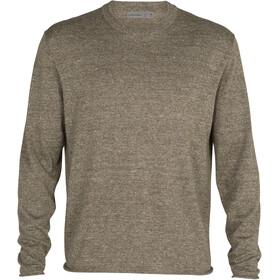 Icebreaker Flaxen LS Crew Sweater Men, Oliva